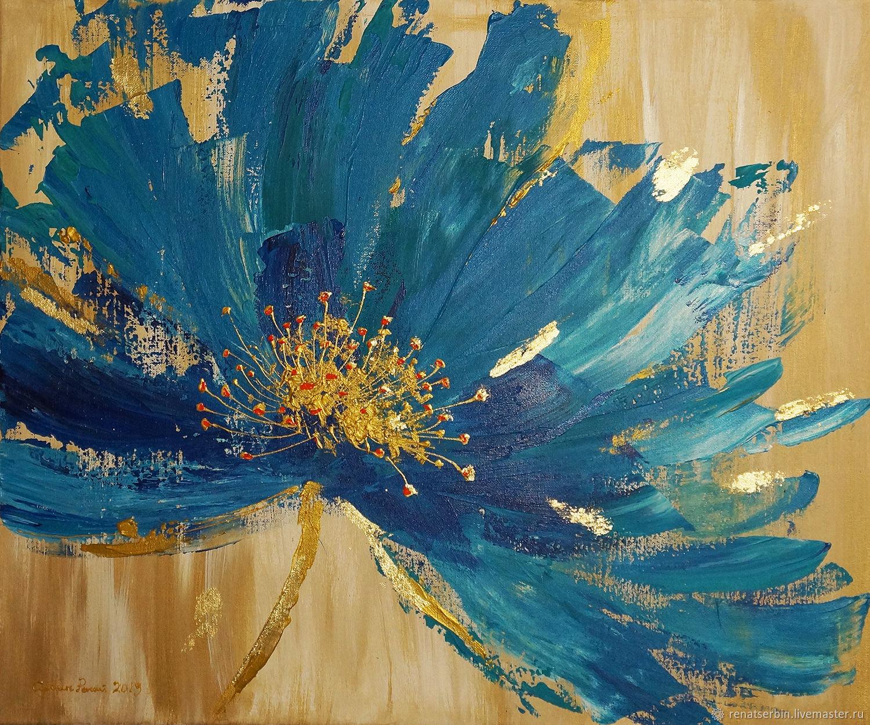 abstraktny-kvet-pozlatenie